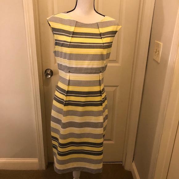 Calvin Klein Dresses & Skirts - Calvin Klein dress yellow and gray size 10